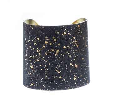 Bracelet Brass with Black Lacquer