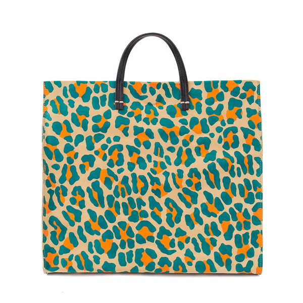 Simple Tote Neon Cat Suede