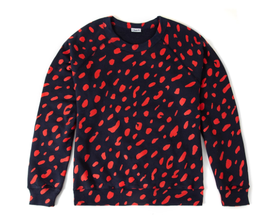 Sweatshirt Navy with Cherry Red