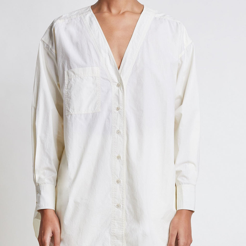 Varna Oversized Button Up Cream