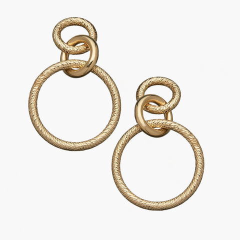 Wes Earrings 14k Gold Plated Silver