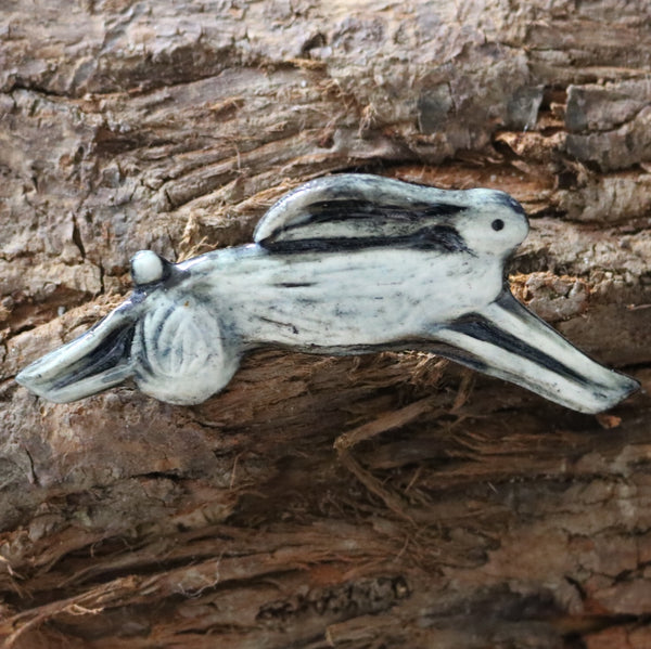 Helen Shearer Ceramic Brooch - Hare