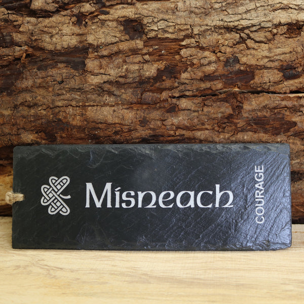 Blue House Slate 'Misneach' Courage Plaque