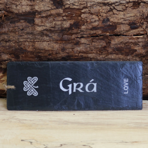 Blue House Slate 'Grá' Love Plaque