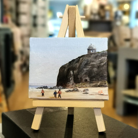 Mussenden Temple Downhill Beach Original Mini Easel