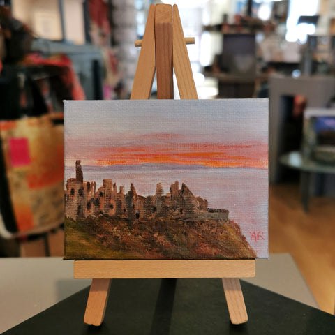Dunluce Castle Original Mini Easel