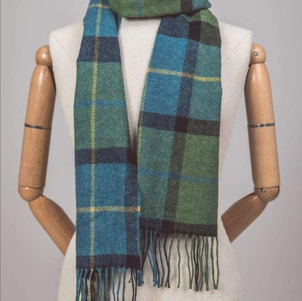 Shannon Check Lambswool Scarf