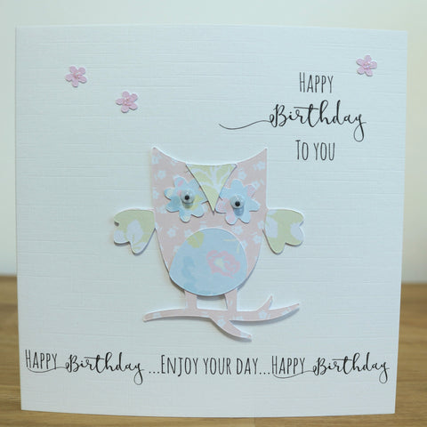Bday Card - Owl HB48