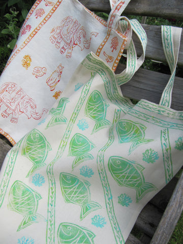 Kids Fabric Printing: Handprinted Tote Bag - Wednesday 15th August @2pm