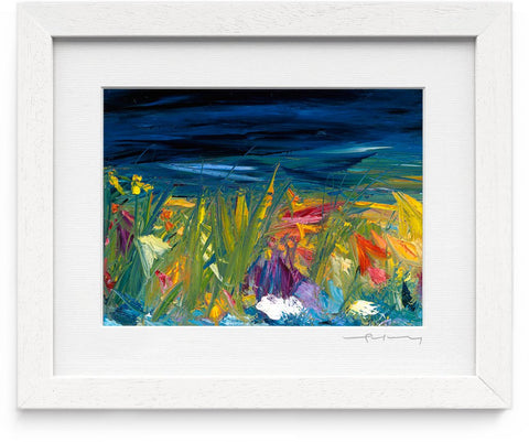 Vera Gaffney Framed Print - September Bog Night
