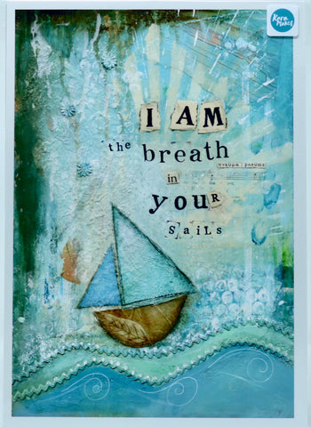 "Rara Makes A4 Print - ""I and the Breath in your Sails print"""