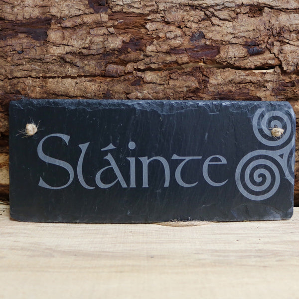Blue House Gifts Slate Plaque - Slainte