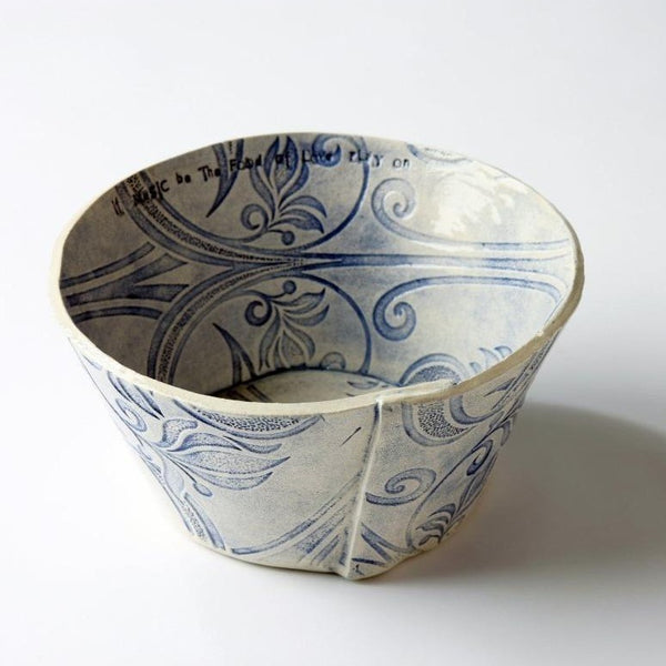 Sarah McKenna Large Blue Impressed Bowl