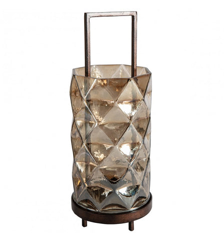 Luken Brown Lustre Lantern Copper