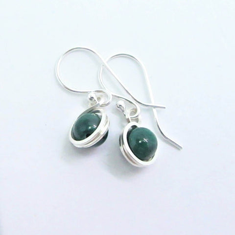 Mora Jewellery Small  Malachite Drop Earrings