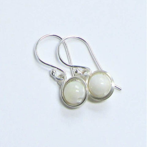 Mora Jewellery Small Moonstone Drop Earrings