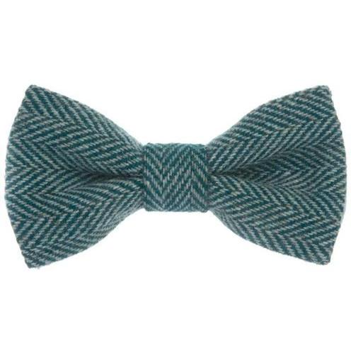 Orwell & Browne Bow Tie - Stippled Turquoise