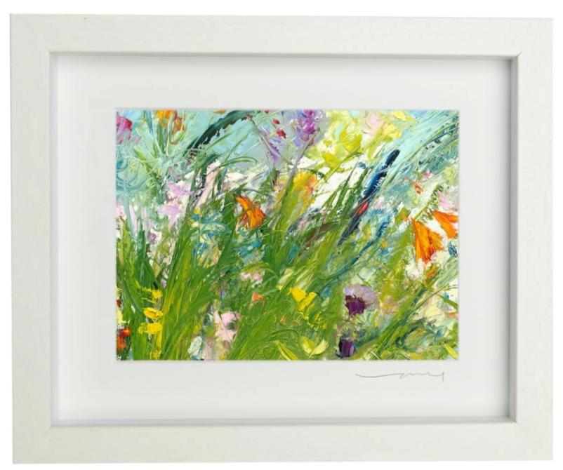 Vera Gaffney Framed Print - Rock Of Doon Blooms