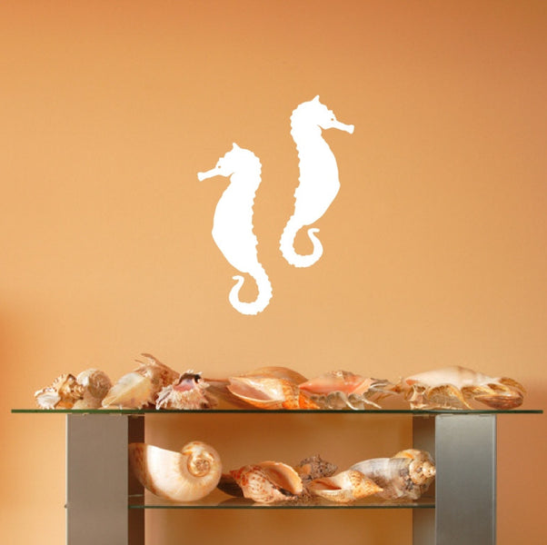 April $5.00 Decal Seahorse Set of 2 Vinyl Wall Decals