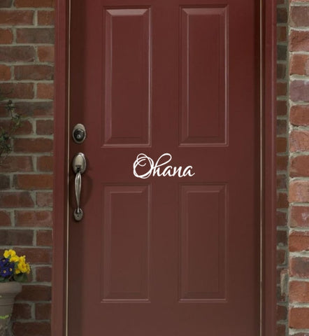 Ohana Door Decal