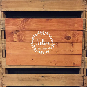 Vine Wreath Name Sign