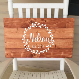Wooden Wedding Guest Book With Name And Date