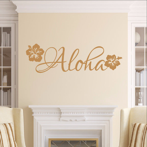 Aloha Vinyl Wall Decal 22551 - Cuttin' Up Custom Die Cuts - 1