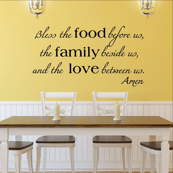 Bless the Food Family Love Vinyl Wall Decal  22195 - Cuttin' Up Custom Die Cuts - 1