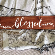 Load image into Gallery viewer, Blessed Painted Wood Sign