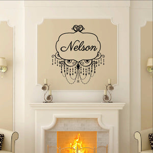 Chandelier Frame Style A Custom Name Decal - Family Name Decal 22504 - Cuttin' Up Custom Die Cuts - 1