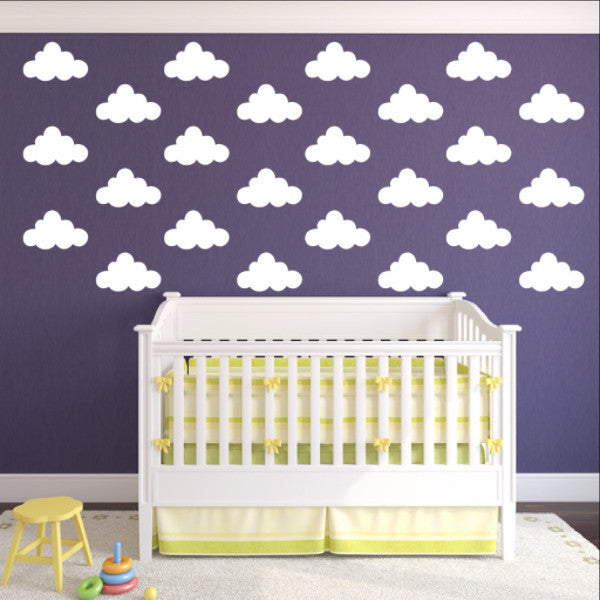 Clouds Mini Vinyl Wall Decals Set 22581 - Cuttin' Up Custom Die Cuts - 1