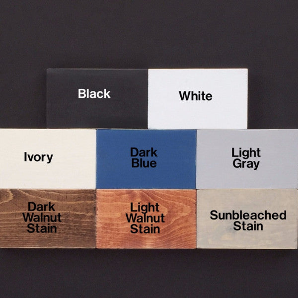 Wood Sign Stain and Paint Color Samples