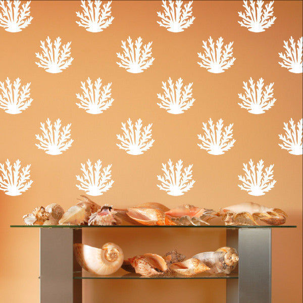 Coral Style A Set of 12 or 24 Vinyl Wall Decals 22573 - Cuttin' Up Custom Die Cuts - 1