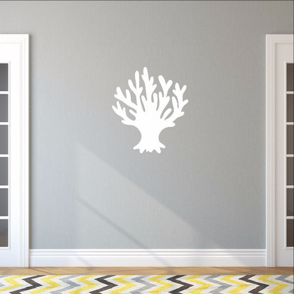 Sea Coral Style B Vinyl Wall Decal 22571 - Cuttin' Up Custom Die Cuts - 1
