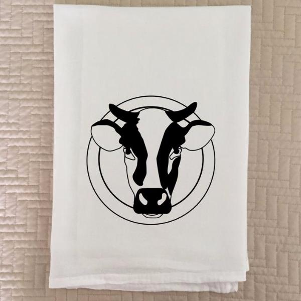 Cow Head Logo Flour Sack Towel