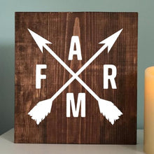 Load image into Gallery viewer, Farm Crossed Arrows Painted Sign
