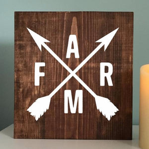 Farm Crossed Arrows Painted Sign