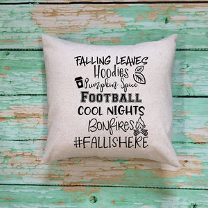 Fall Is Here Throw Pillow Cover Oatmeal Color