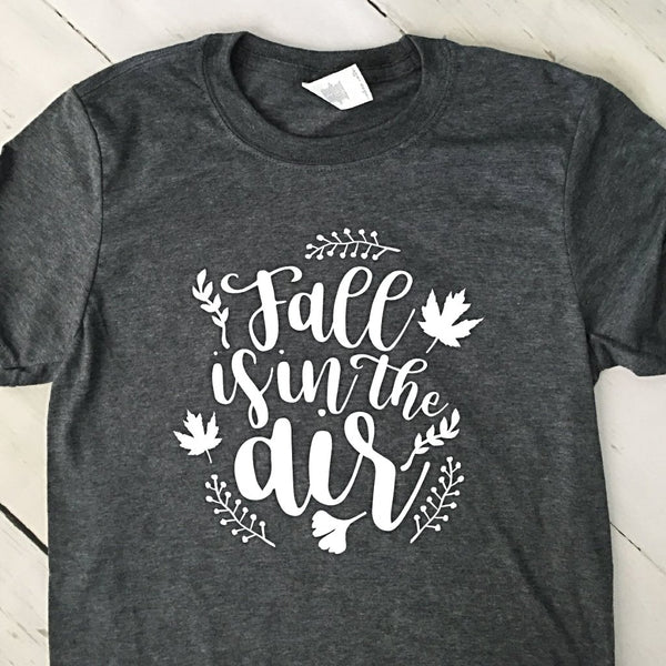 Fall Is In The Air Gray T Shirt