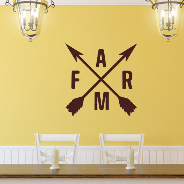 Farm With Crossed Arrows Vinyl Wall Decal