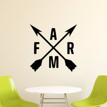 Load image into Gallery viewer, Crossed Arrows With Farm Vinyl Wall Decal