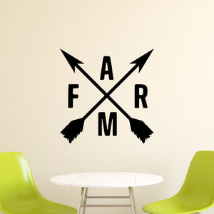 Crossed Arrows With Farm Vinyl Wall Decal