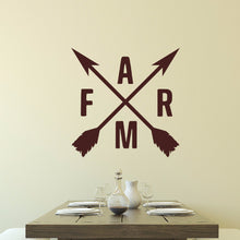Load image into Gallery viewer, Crossed Arrows With Farm Letters Vinyl Wall Decal