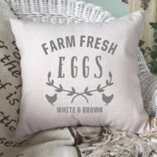 Load image into Gallery viewer, Farm Fresh Eggs Pillow Cover Gray