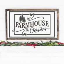 Load image into Gallery viewer, Farmhouse Christmas Painted Wood Sign White Board Charcoal Lettering