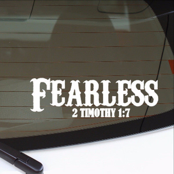 Fearless Christian Vinyl Car Decal 22553 - Cuttin' Up Custom Die Cuts