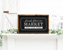 Load image into Gallery viewer, Fresh Flower Market Painted Wood Sign Black