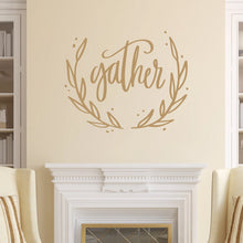 Load image into Gallery viewer, Gather Vinyl Wall Decal Light Brown