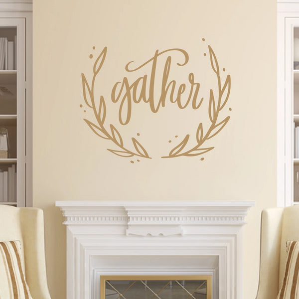 Gather Vinyl Wall Decal Light Brown