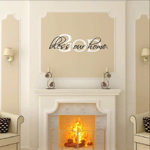 God Bless Our Home Two Layer Vinyl Wall Decal 22058 - Cuttin' Up Custom Die Cuts - 1